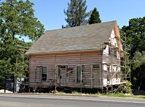 The old yellow house getting restored in orinda beyond for Restoration house