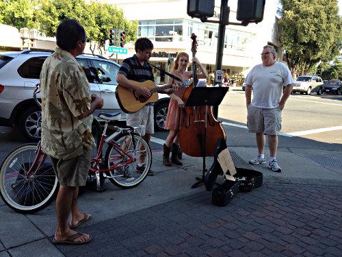 music in downtown walnut creek impromptu street corner musicians beyond the creek. Black Bedroom Furniture Sets. Home Design Ideas