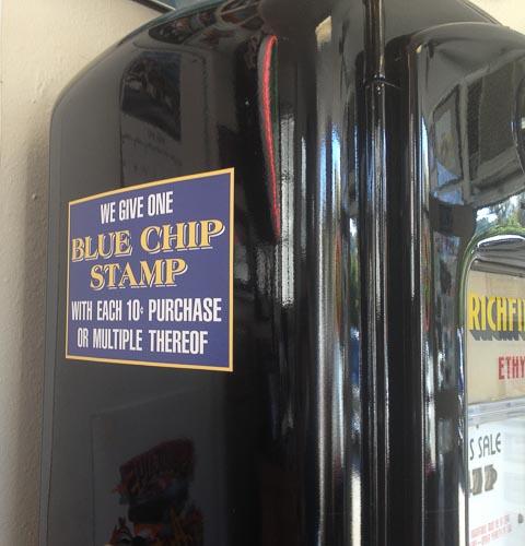 gas-pump-richfield-blue-chip-stamp