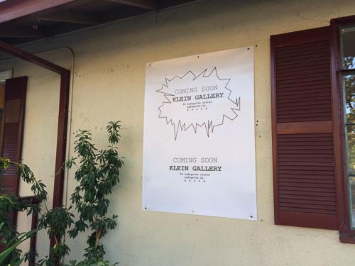 klein-gallery-lafayette-sign