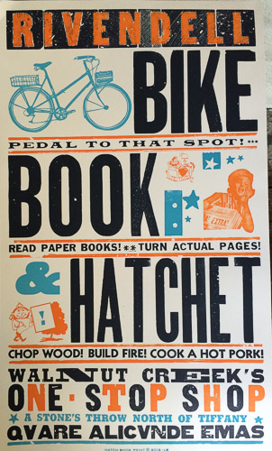 rivendell-bike-book-hatchet-walnut-creek-poster