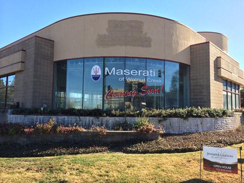 Maserati of Walnut Creek Relocating Soon in Walnut Creek – Beyond