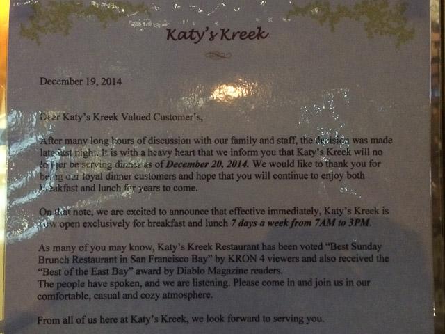 katys-kreek-walnut-creek-notice-dinner