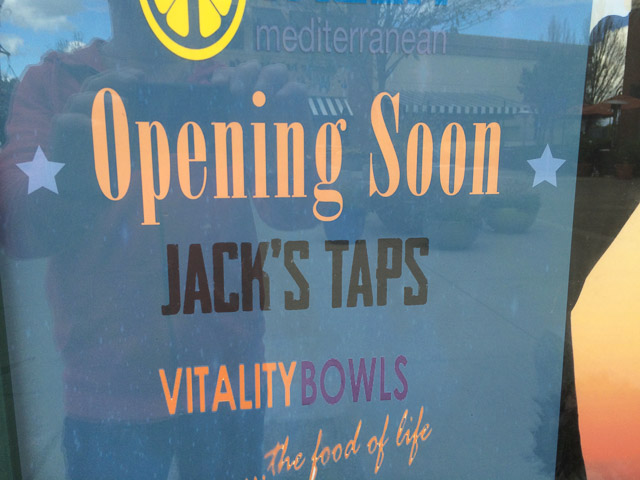 jacks-taps-pleasant-hill-opening-soon-sign