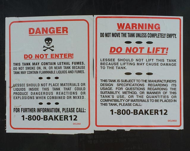 black-containers-lafayette-danger-sign