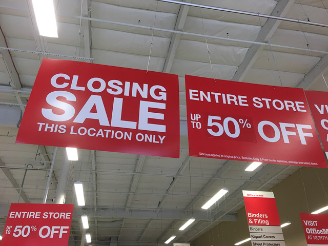 Office Depot Pleasant Hill Closing Up To 50