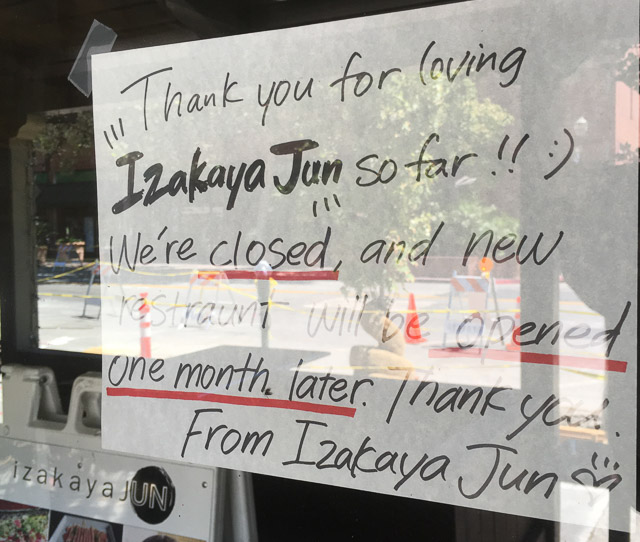 izakaya-jun-walnut-creek-outside-closing-sign