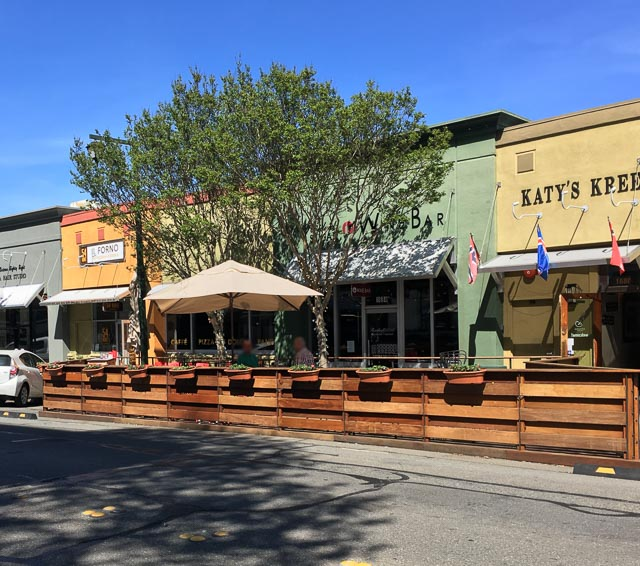 Late Last Year We Saw A Public Parklet Come To Coffee Shop In Downtown Walnut  Creek Taking Over A Couple Of Parking Spots And Now A New Dining Patio Has  ...