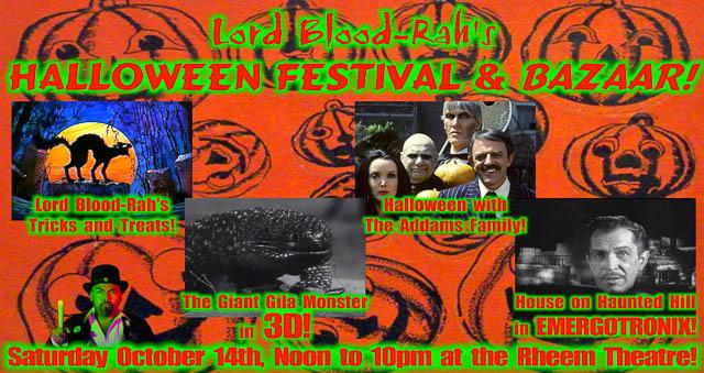 lord blood rahs halloween festival bazaar at rheem theatre in moraga oct 14th